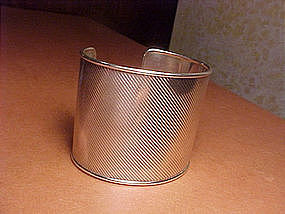VINTAGE TIFFANY & CO. WIDE STERLING CUFF