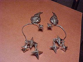 HUBERT HARMON WINGS AND STARS EARRINGS
