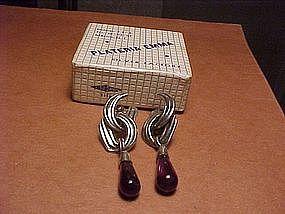 EMMA MELENDEZ AMETHYST EARRINGS ORIGINAL BOX
