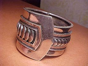 MARGOT DE TAXCO ART DECO DESIGN STERLING BRACELET