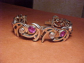 SUPERB ANTONIO PINEDA AMETHYST MOONSTONE BRACELET
