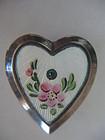 Rare~ Walter Lampl Sterling  Enamel Heart Charm Box