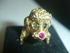 Vintage 14K Gold Poodle Dog Ring ~ 31g appraised $6000+