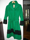 Vintage Hudson's Bay Womans Coat Green Sz 8