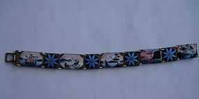Norway Sterling Enamel Scenic Bracelet HC Ostrem