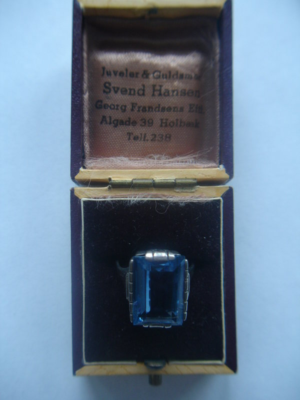 Denmark or Germany 935 Sterling Art Deco Ring