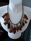 Vintage  Circa1930s Bakelite Japanese Lanterns Necklace