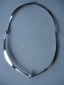 Ed Wiener Sterling Silver Modernist Necklace