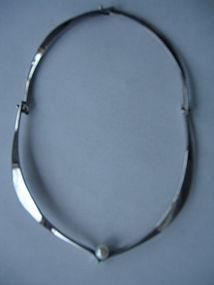 Ed Wiener Sterling Silver Modernist Necklace