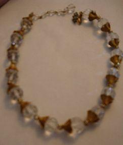 Vintage Miriam Haskell Cut Crystal Rhinestone Necklace
