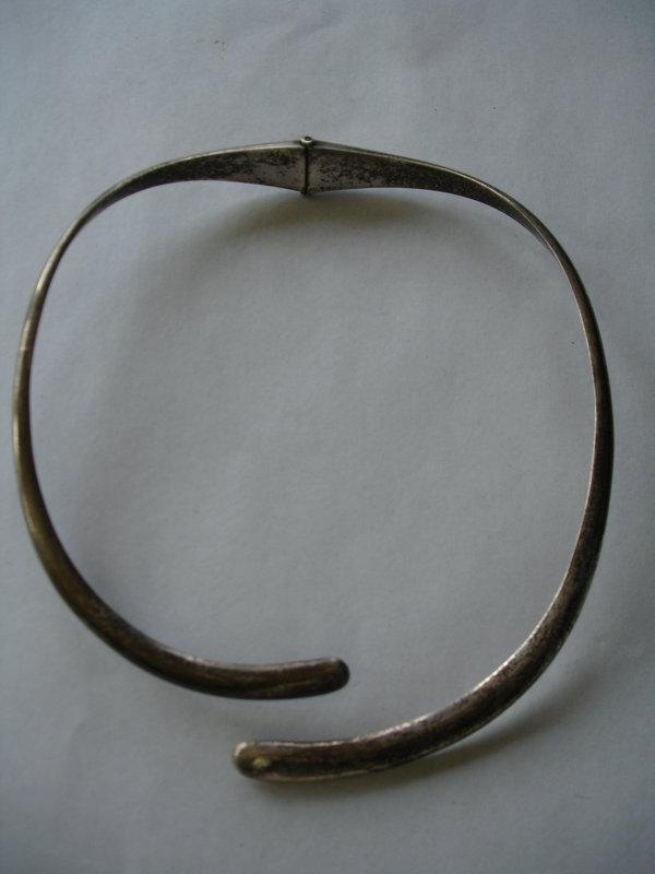 Sigi Pinedo Taxco Sterling 1950s Bold Necklace 993