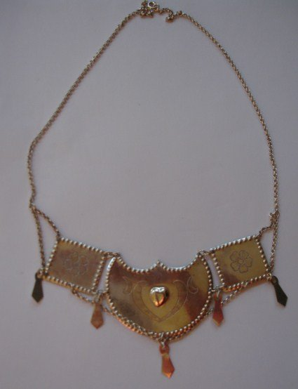 1930 Finland Sterling Silver National Wedding Necklace