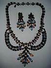 Vintage Schreiner Runway Rhinestone Necklace Set
