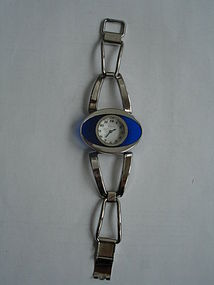 Vintage Modernist Ladies Oris Silver Bracelet Watch