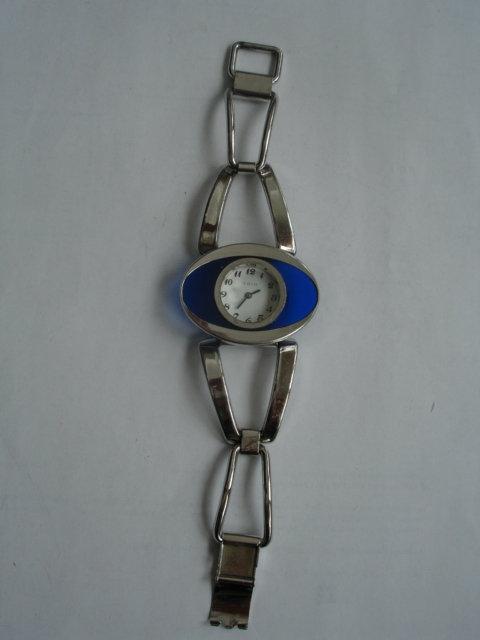 Vintage Modernist Ladies Oris Silver Bracelet Watch
