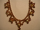 Vintage SAPHIRET Glass and Rhinestone Necklace