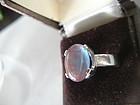 Vintage Large Saphiret Ring Oval Sterling Silver