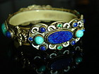 Austro Hungarian Jeweled Filigree Bracelet