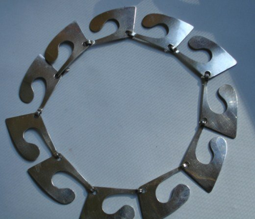 Henry Steig Vintage Modernist Sterling Silver Necklace
