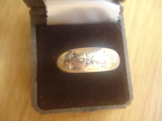 14K White Gold Diamond Gypsy Ring 5.2 grams 9 3/4