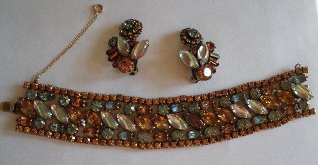 Fabulous Weiss SAPHIRET  Bracelet Earrings  Set