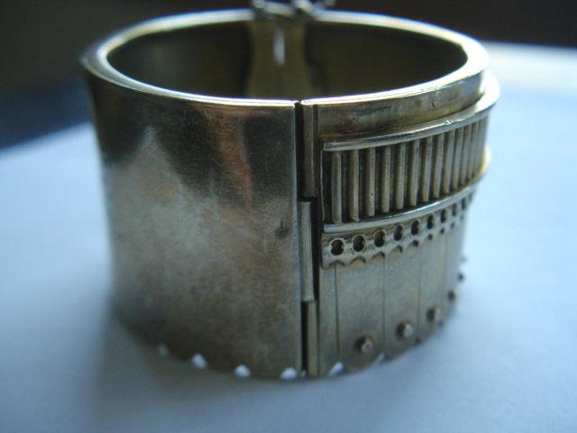 Antique Victorian Sterling Silver Bangle Bracelet