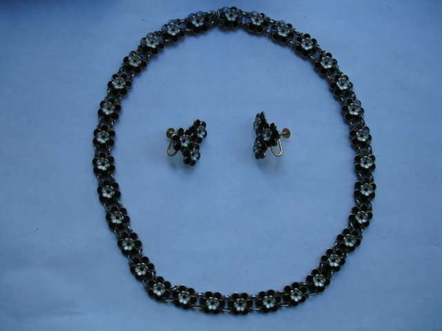 Norwegian Norway Enamel  Sterling Silver Necklace  Set