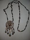 Victorian Sterling 800 Silver Peruzzi Pendant Necklace
