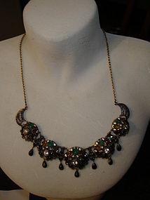 Vintage Thai Asian Princess Gold Harem Necklace WOW!