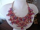 Juliana Rhinestone Crystal Bib Necklace Dangles