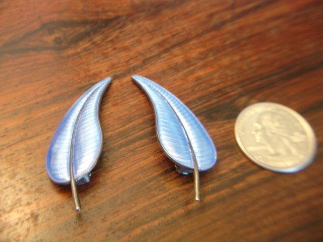 Volmar Bahner Norway  Sterling Silver Enamel Earrings