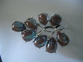 Coro SAPHIRET Glass Brooch