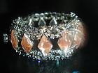 Vintage Big Saphiret AB Rhinestone Bracelet Juliana