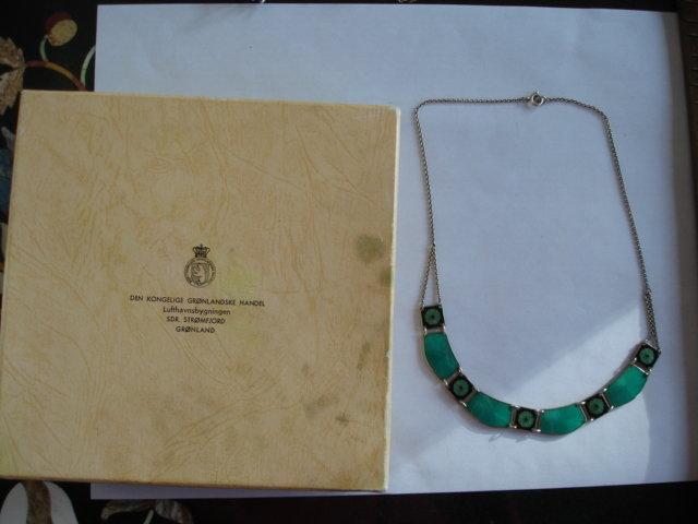 Norway Sterling Silver Enamel Necklace David Andersen