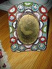 Antique Micro Mosaic Picture Frame Large 4 3/4 Inch