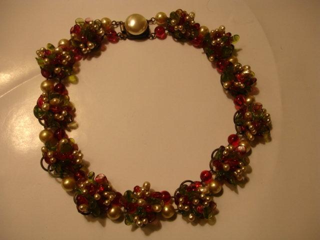 Vintage Louis Rousselet France Poured Glass Necklace
