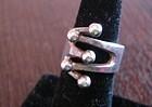 Anna Grete Eker Norway Sterling Silver Modernist Ring