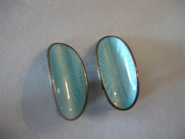 David Andersen Norway Sterling  Enamel Earrings