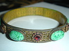 Victorian Neiger Bros Jeweled Celluloid Bracelet
