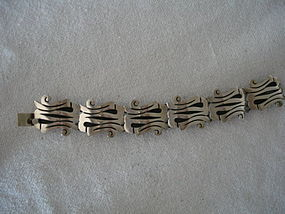 Mexican Sterling Silver A Munoz Bracelet Taxco