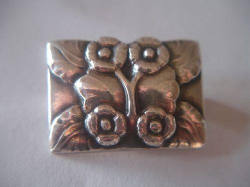 Early Georg Jensen Sterling Silver Denmark Brooch #66