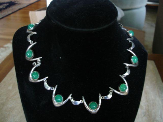 Arne Johansen Denmark Sterling Silver Modernist Necklace Boomerang
