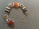 Victorian Scottish Silver Agate  Bracelet Heart Padlock Bracelet