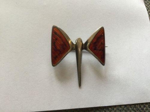 Vintage Sterling Silver Enamel Dragonfly Brooch J. Tostrup Norway