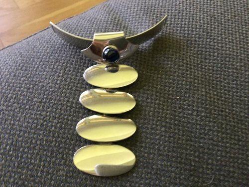Rare Vintage  Modernist N.E. From Denmark Sterling Silver Pendant