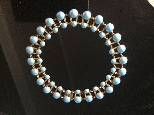 Vintage Norway Axel Holmsen Heavy Gilt Sterling Enamel Necklace