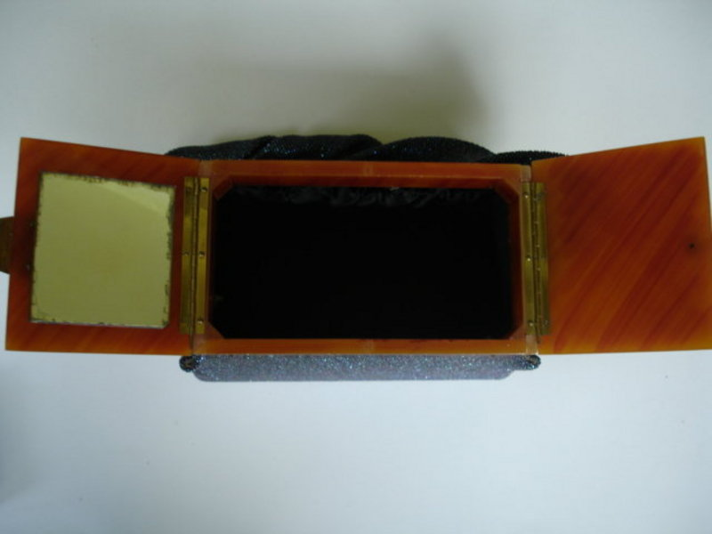 Beaded Box LUCITE PURSE