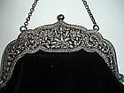Sterling 800 Silver Frame Chatelaine Purse Victorian