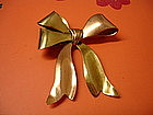 Retro 14K Yellow and Rose Gold BOW Pin