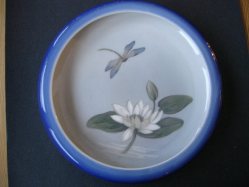 Royal Copenhagen Large Low Bowl Dragonfly Denmark